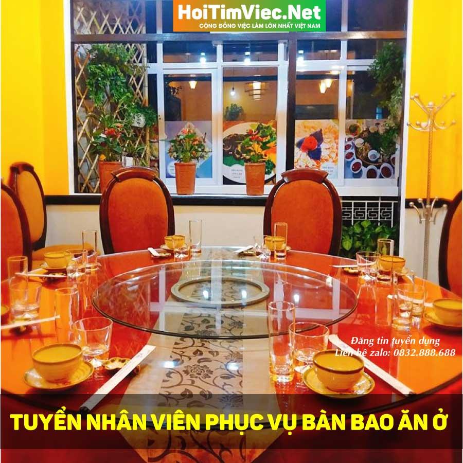 Tuyển nhân viên phục vụ bàn bao ăn ở – Nhà hàng Sơn Lâm