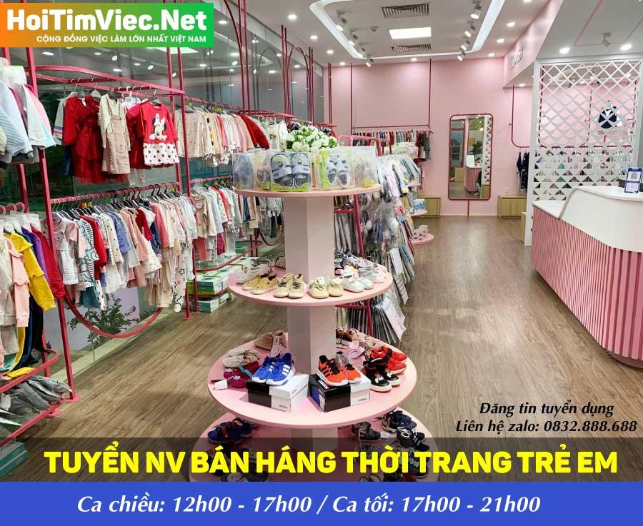 Tuyển nhân viên bán hàng theo ca – Shop Baby Closet