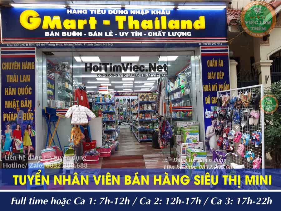 Tuyển nhân viên bán hàng siêu thị – Gmart Thái Lan