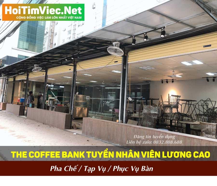 Tuyển nhân viên pha chế, tạp vụ, phục vụ bàn – The Coffee Bank