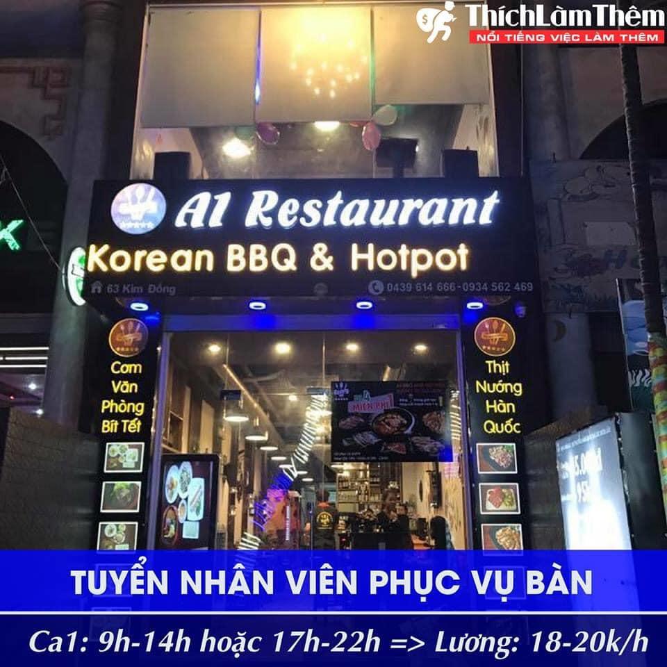 Tuyển nhân viên phục vụ bàn – Nhà hàng A1 Restaurant