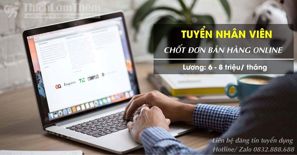 Tuyển nhân viên bán hàng online – Shop online