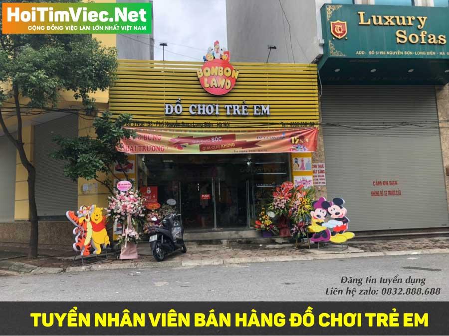 Tuyển nhân viên bán hàng đồ chơi trẻ em – Bon Bon Land