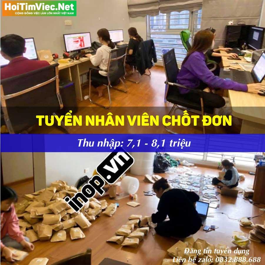 Tuyển nhân viên chốt đơn – Shop inop.vn