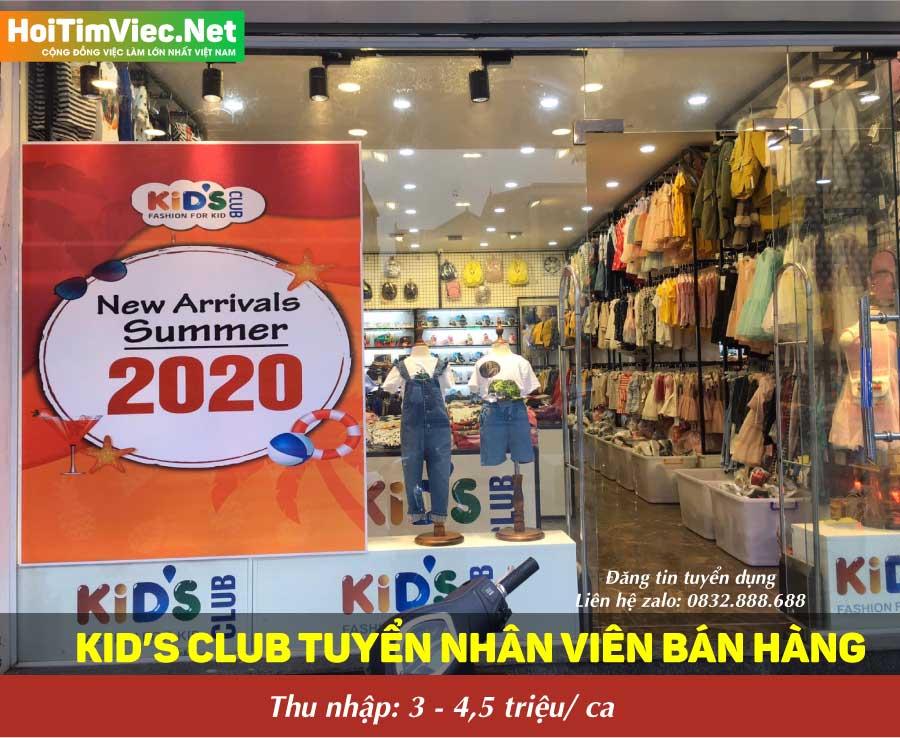 Tuyển nhân viên bán hàng thời trang trẻ em – Kid's Club