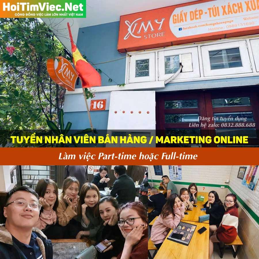 Tuyển nhân viên bán hàng, marketing online – KIMY STORE