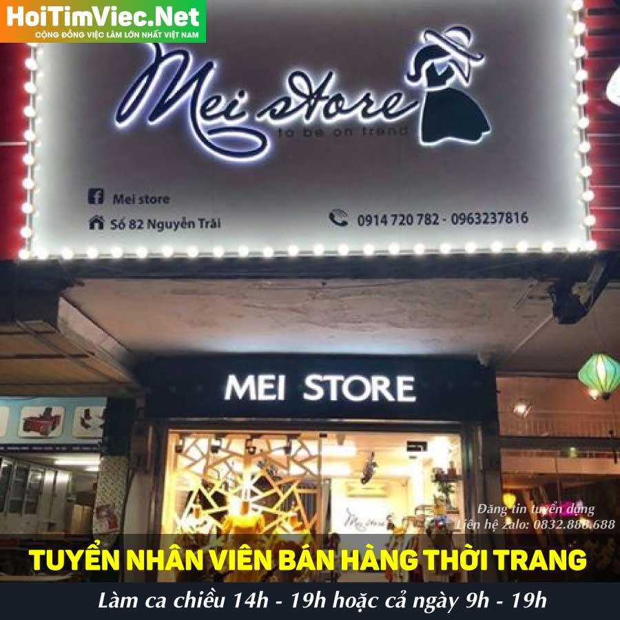 Tuyển nhân viên bán hàng – Shop Mei Store