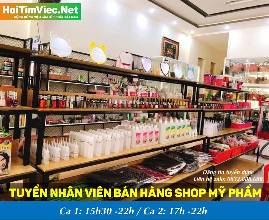 Tuyển nhân viên bán hàng – Shop mỹ phẩm