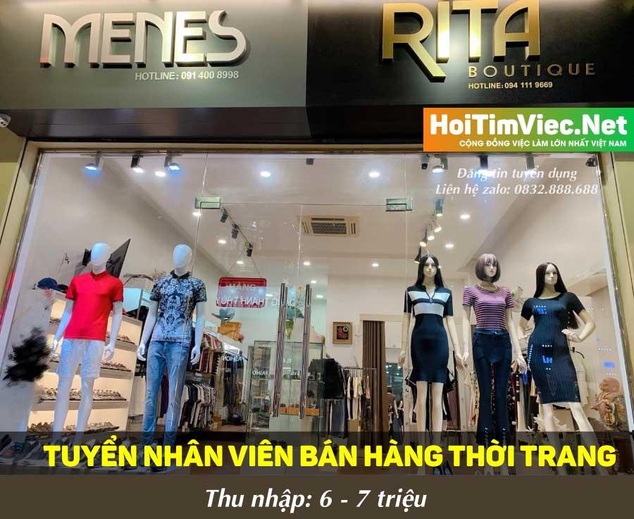 Tuyển nhân viên bán hàng thời trang – Shop Rita
