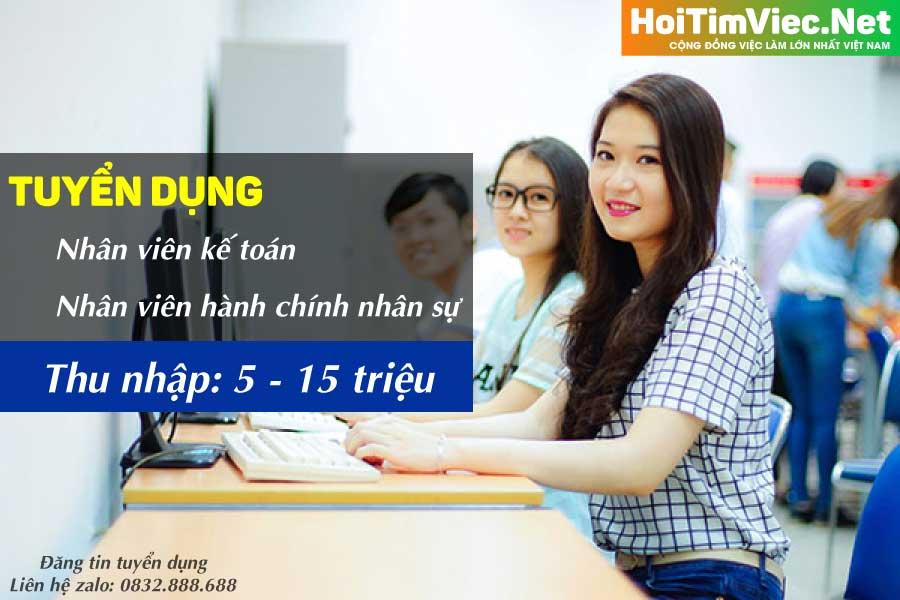 Tuyển nhân viên kế toán, hành chính nhân sự – Công ty nano Việt Nam
