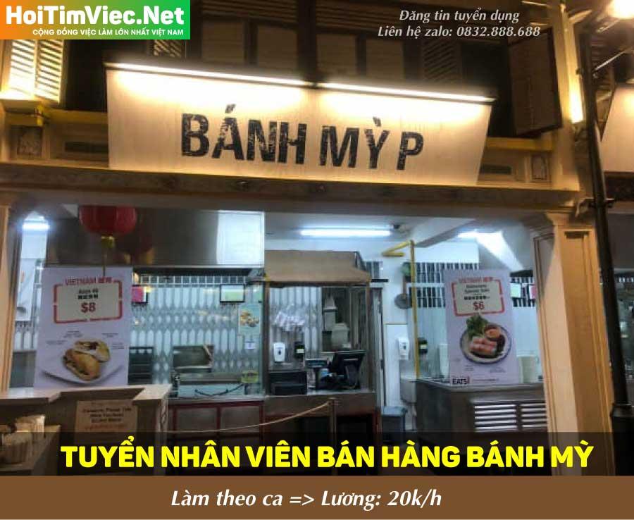 Tuyển nhân viên bán hàng theo ca – Cửa hàng bánh mỳ P