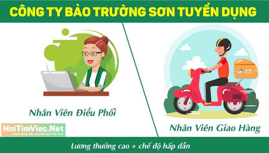 Tuyển nhân viên điều phối, giao hàng – Công ty cổ phần TM&DV Trường Bảo Sơn
