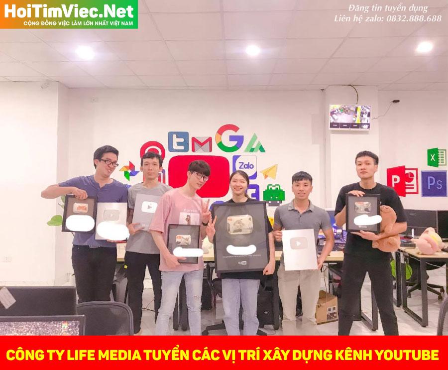 Tuyển nhân viên các vị trí kênh Youtube – Công ty Life media