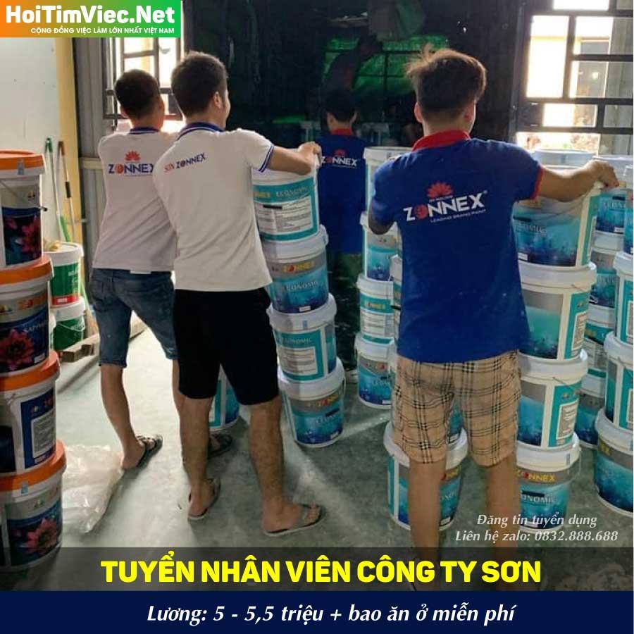 Tuyển công nhân – Sơn Zonnex Việt Nam
