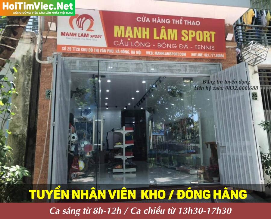 Tuyển nhân viên đóng gói – Cửa hàng thể thao ManhLamSport