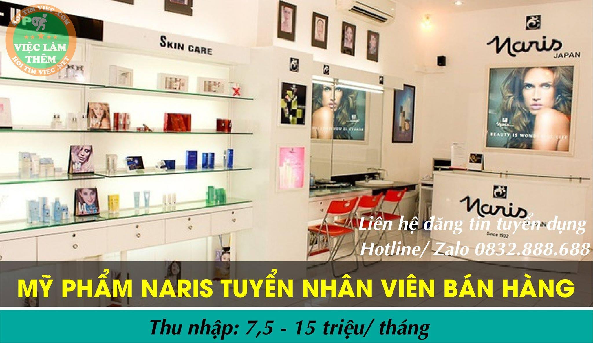 Tuyển nhân viên bán hàng – Shop mỹ phẩm Naris