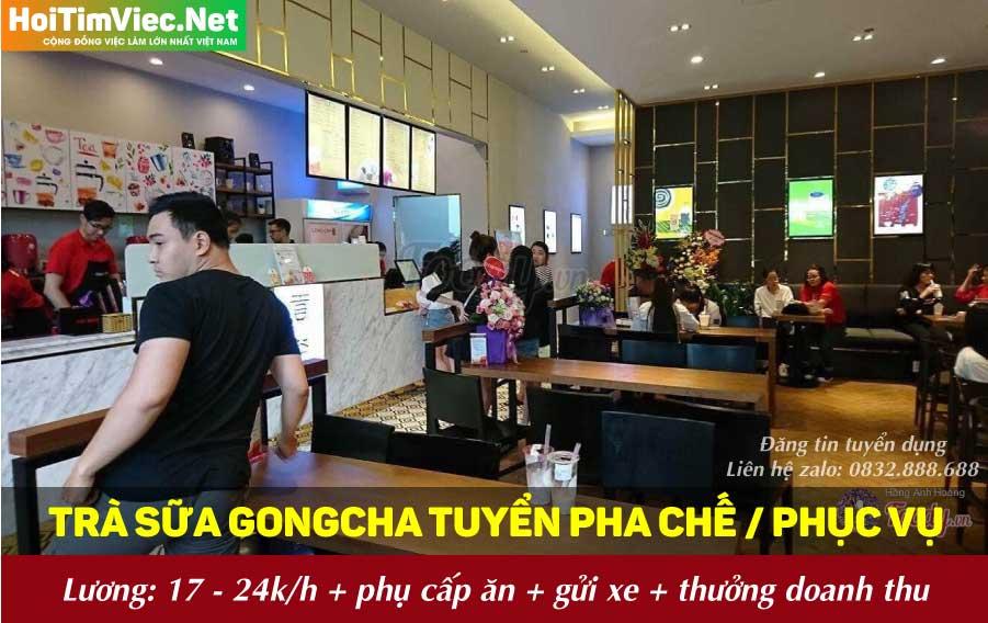 Tuyển dụng nhân viên pha chế, phục vụ – Trà sữa Gongcha