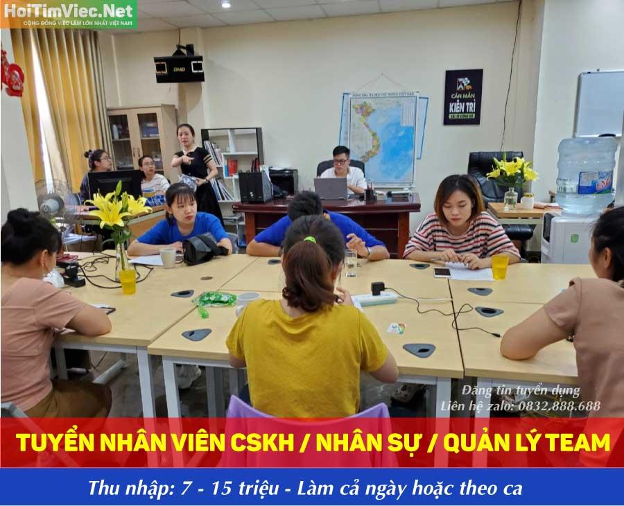 Tuyển nhân viên chăm sóc khách hàng lương cao – CT TNHH KDTM và ĐT Phú Hưng