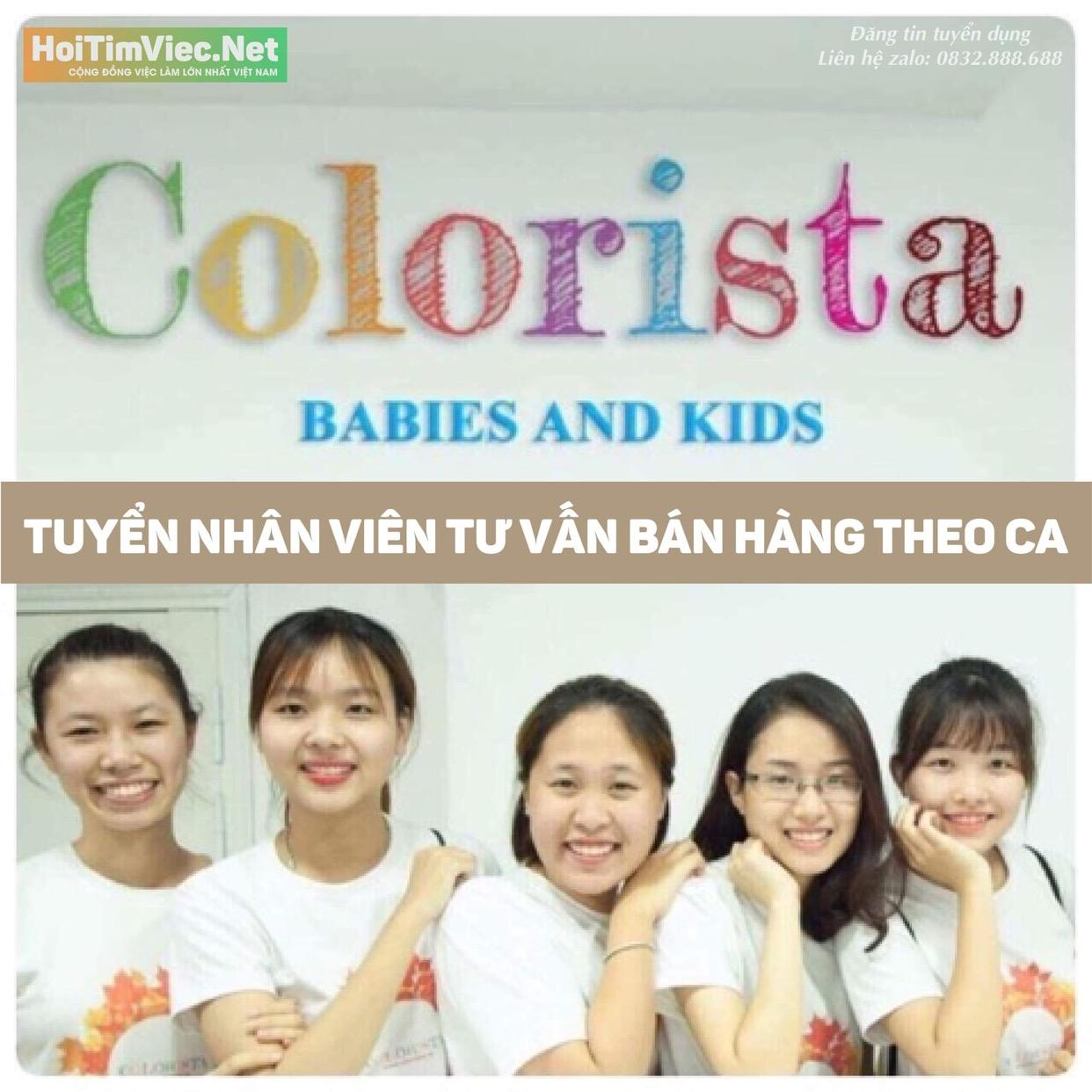 Tuyển nhân viên bán hàng – Cửa hàng thời trang trẻ em Colorista