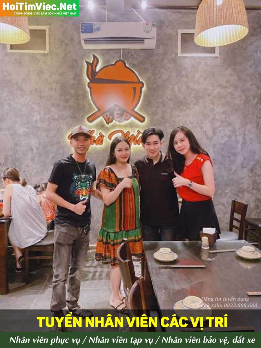 Tuyển NV phục vụ, tạp vụ, bảo vệ – Nhà hàng bếp nhà mình