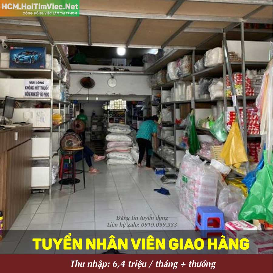 Tuyển nhân viên giao hàng – Cửa hàng Bao Bì Lâm Cát