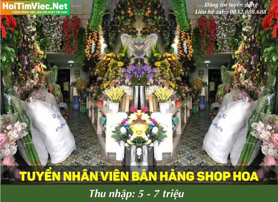 Tuyển nhân viên bán hàng – Shop hoa lụa