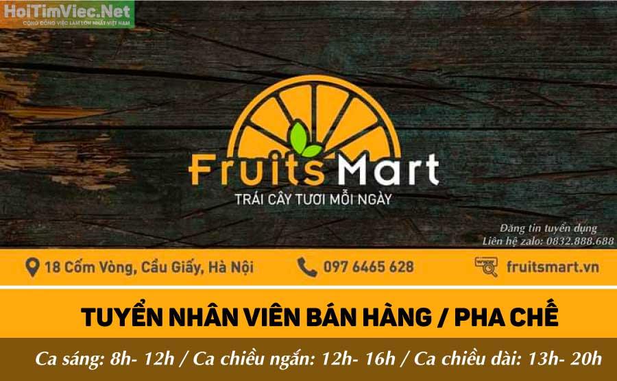 Tuyển nhân viên pha chế, bán hàng – Fruits Mart
