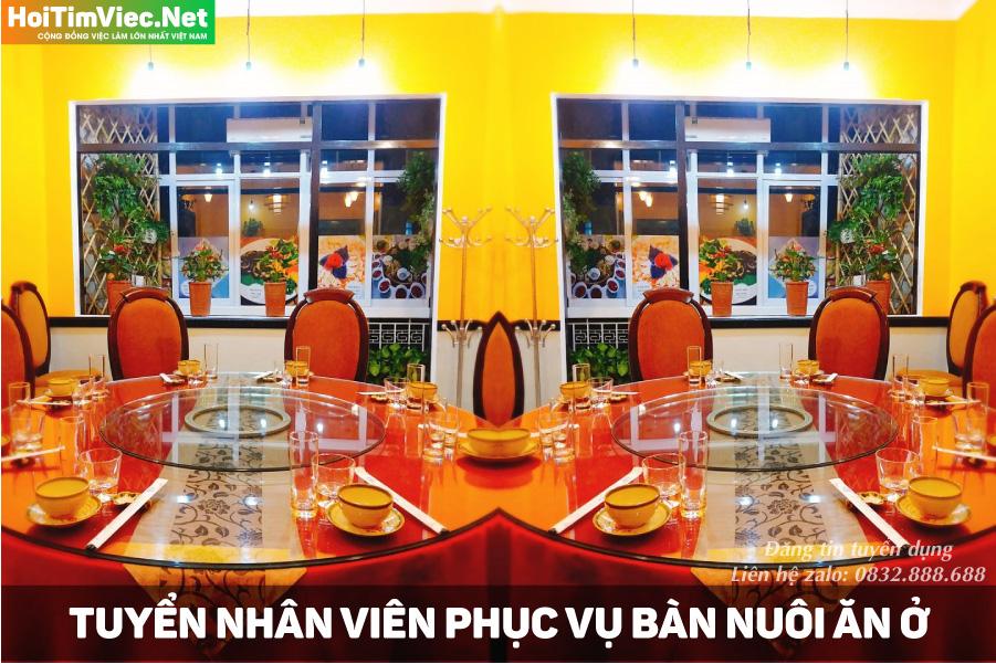 Tuyển nhân viên phục vụ bàn, phụ bếp bao ăn ở – Nhà hàng Sơn Lâm