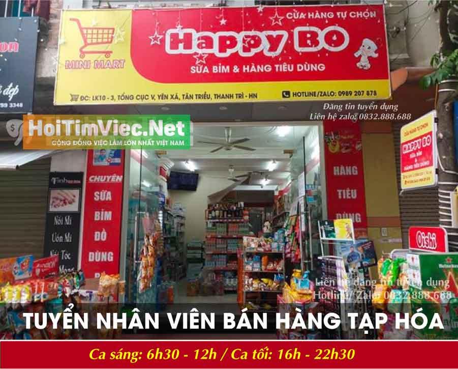 Tuyển nhân viên bán hàng – Cửa hàng tự chọn mini Mart