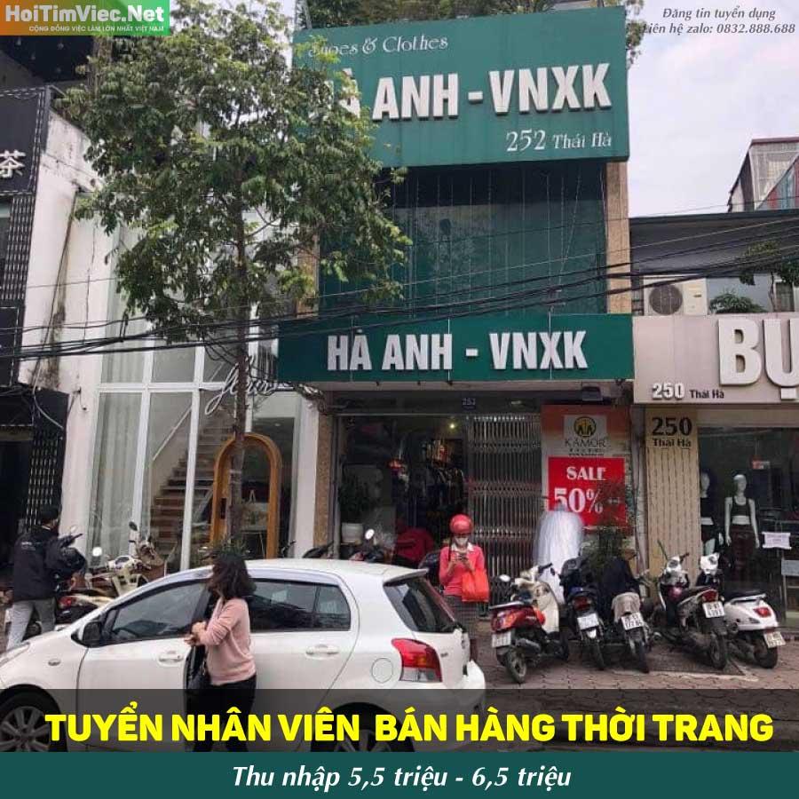 Tuyển nhân viên bán hàng – Hệ thống cửa hàng Hà Anh VNXK & TASTYFOOD