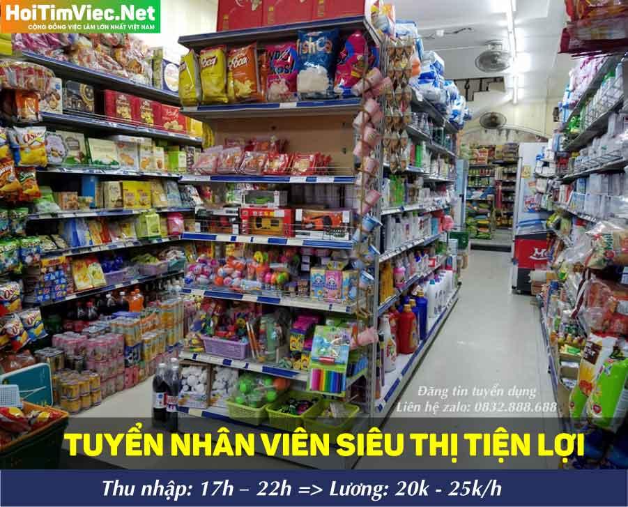 Tuyển nhân viên bán hàng cửa hàng tiện lợi – Siêu thị 12Gmart