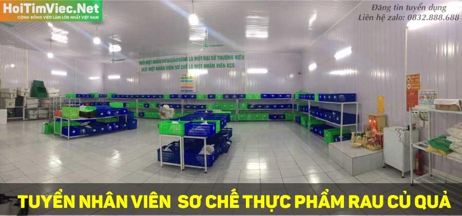 Tuyển nhân viên sơ chế thực phẩm – CTY TNHH Thực Phẩm Hà Nội Xanh