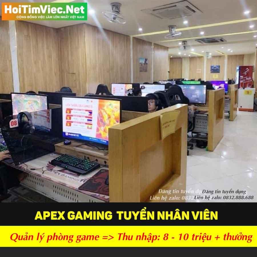 Tuyển nhân viên trông quán net – Apex Gaming