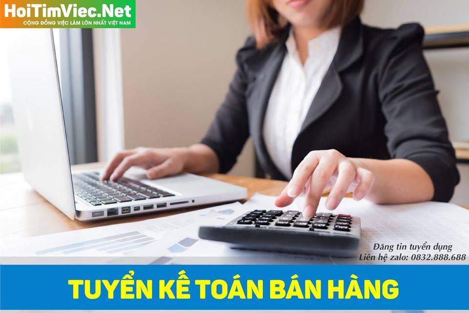 Tuyển nhân viên kế toán bán hàng – Công ty online