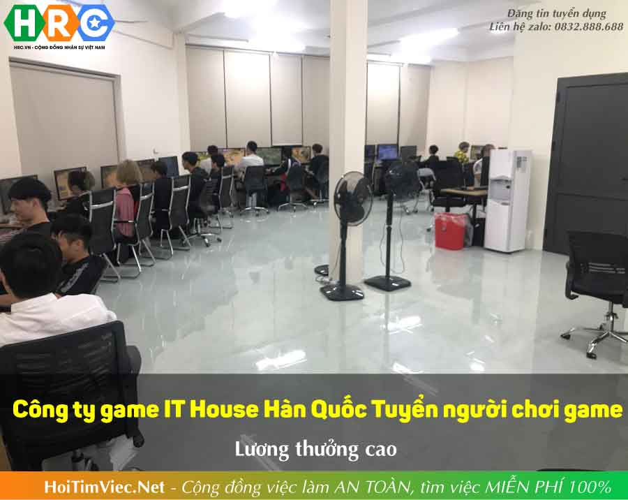 Tuyển nhân viên chơi game – Công ty game IT House Hàn Quốc