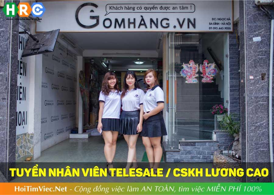 Tuyển nhân viên telesales, nhân viên chăm sóc khách hàng – GOMHANG