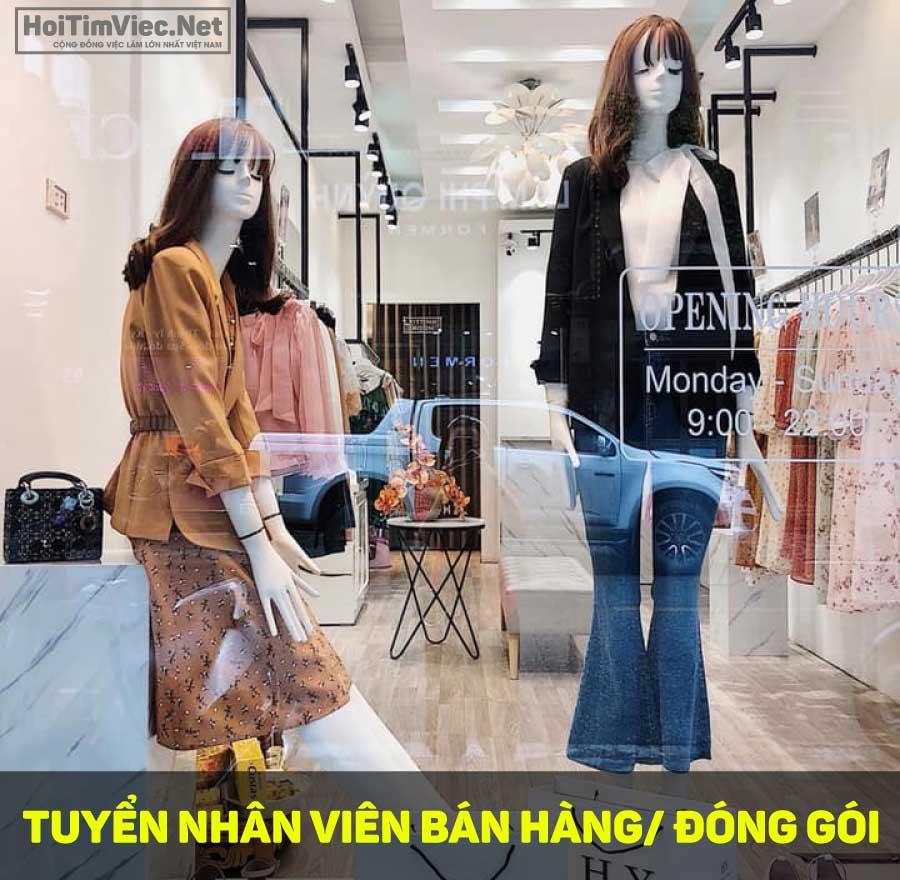 Tuyển nhân viên sales manager, nhân viên đóng gói – H.Y Shop