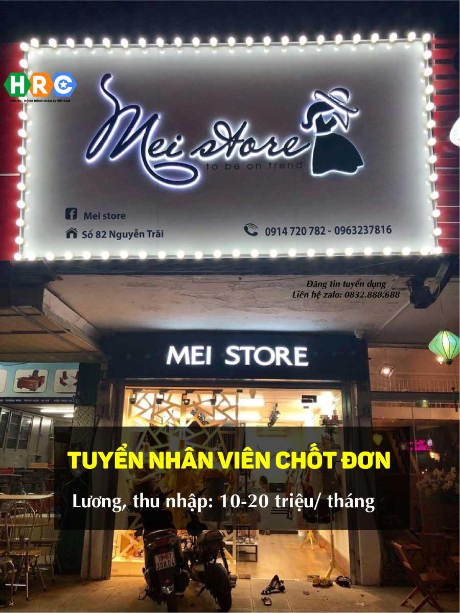 Tuyển nhân viên tư vấn chốt đơn – Mei Store