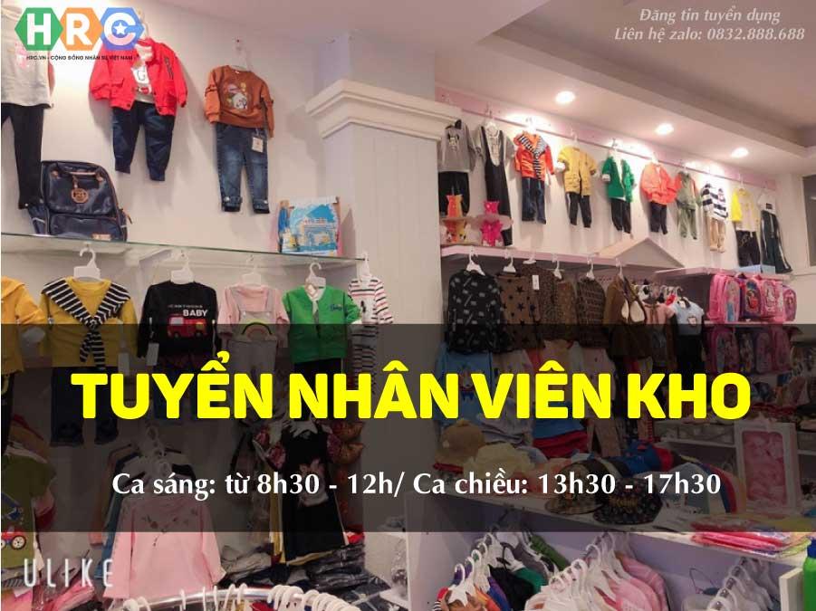 Tuyển nhân viên kho – Shop Thời trang Quần áo trẻ em Mẹ Bắp