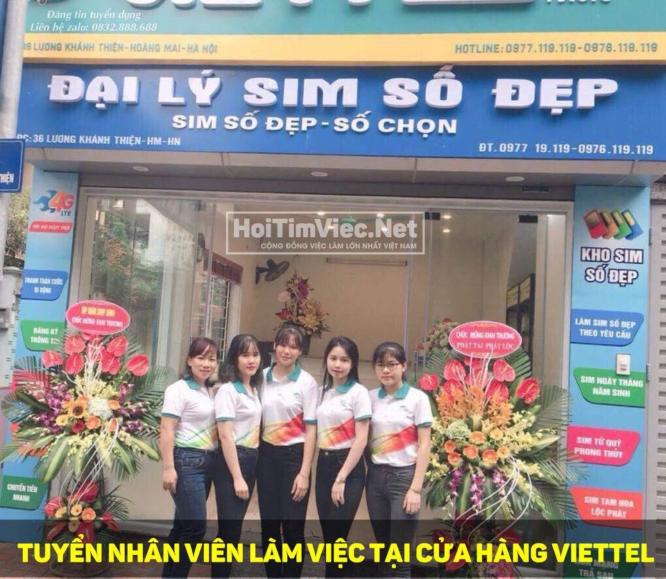 Tuyển nhân viên cửa hàng Viettel