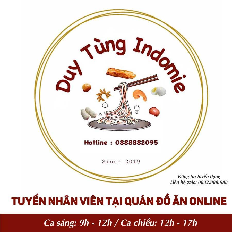 Tuyển nhân viên quán ăn online – Duy Tùng Indomie