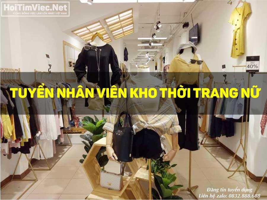 Tuyển nhân viên kho – Shop thời trang nữ