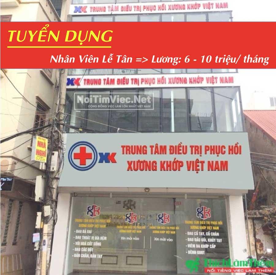 Tuyển nhân viên lễ tân – Trung tâm phục hồi, điều trị xương khớp Việt Nam