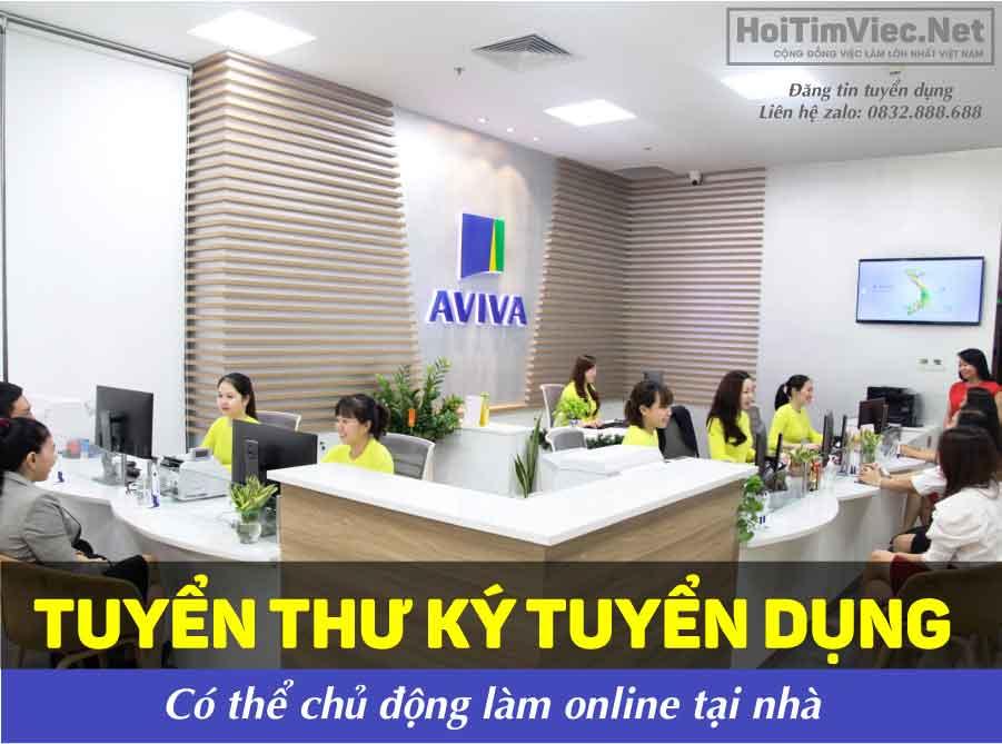 Tuyển thư ký tuyển dụng ( có thể làm tại nhà) – Công ty AVIVA