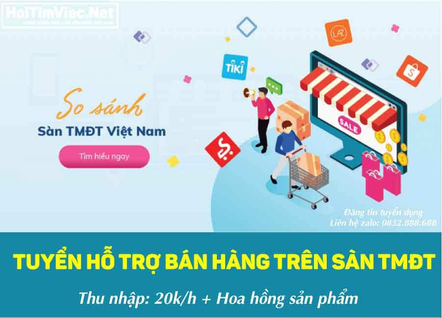 Tuyển nhân viên hỗ trợ bán hàng TMĐT – Công ty online