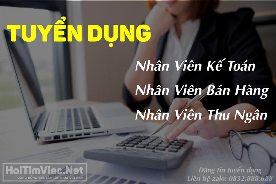 Tuyển kế toán, bán hàng, thu ngân – Cửa hàng Thuần Việt