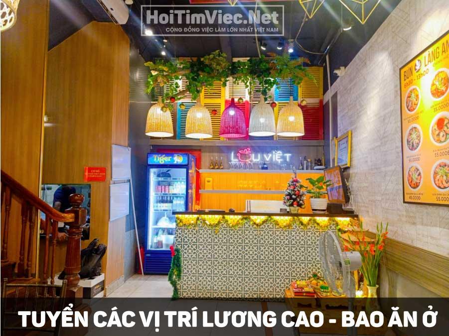Tuyển nhân viên các vị trí lương cao – Nhà hàng Lẩu Việt chính hiệu