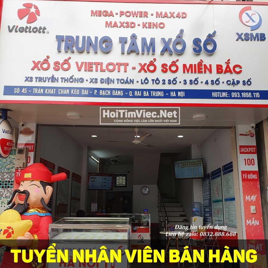 Tuyển nhân viên bán hàng – Cửa hàng Vietlot