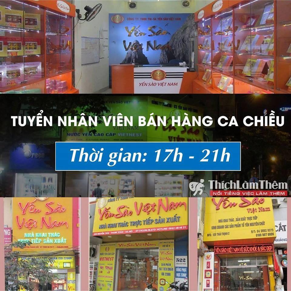 Tuyển sinh viên bán hàng tại Showroom 17h – 21h