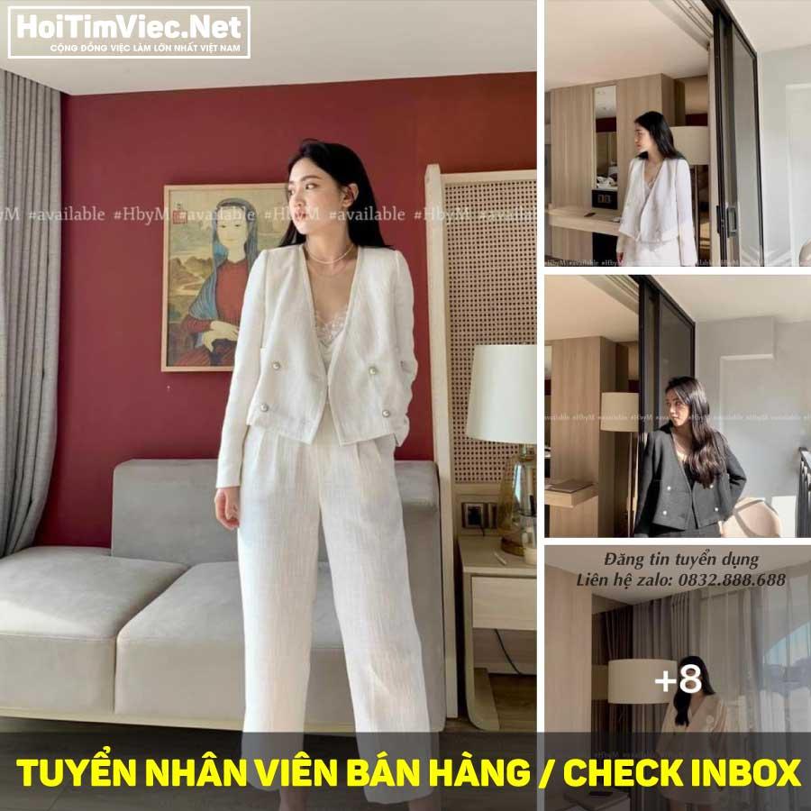 Tuyển nhân viên bán hàng, trực fanpage – Shop HbyM
